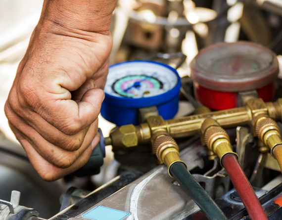 Compressed air car components to be repaired