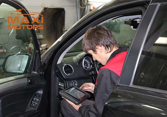 Computer diagnostics of Maximotors car systems